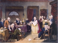 The First Prayer in Congress by Tompkins Harrison Matteson